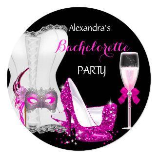Masquerade Champagne Bachelorette Corset Pink R Card