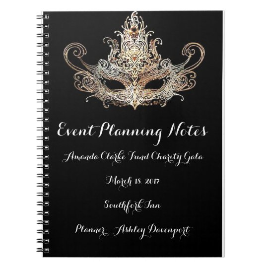Masquerade Event Planner Notes Notebook