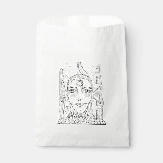 Masquerade Fish Lollipop Line Art Design Favour Bags