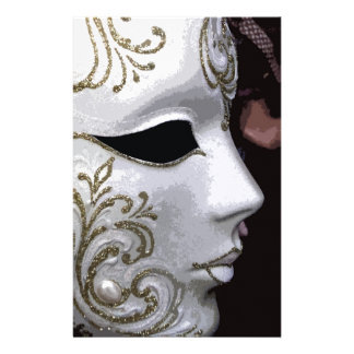 MASQUERADE (GOLD) PERSONALISED STATIONERY