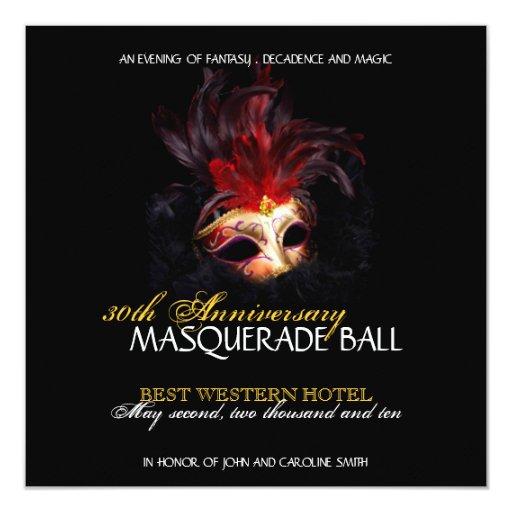 Masquerade Invitation 13 Cm X 13 Cm Square Invitation Card