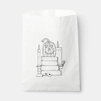 Masquerade Library Line Art Design Favour Bags