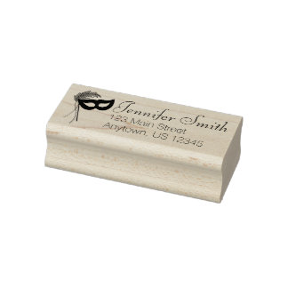 Masquerade Mask Drama Club Theatre Address Stamp