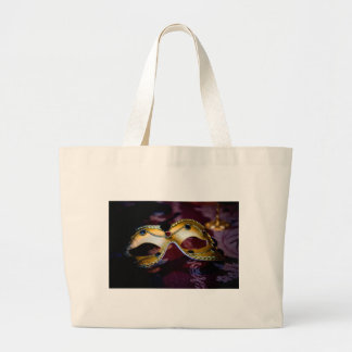 Masquerade Mask Gold Party Halloween Glamour Jumbo Tote Bag