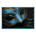 Masquerade Mask Laugh Love Dance Print