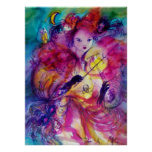 MASQUERADE NIGHT Carnival Musician in Pink Costume Poster