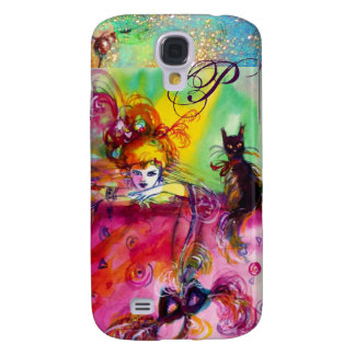 MASQUERADE NIGHT / LADY WITH BLACK CAT MONOGRAM GALAXY S4 COVERS