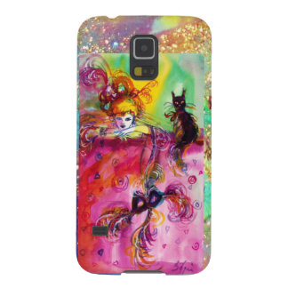 MASQUERADE NIGHT / LADY WITH BLACK CAT MONOGRAM CASE FOR GALAXY S5