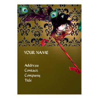 MASQUERADE PARTY black and white damask Business Cards