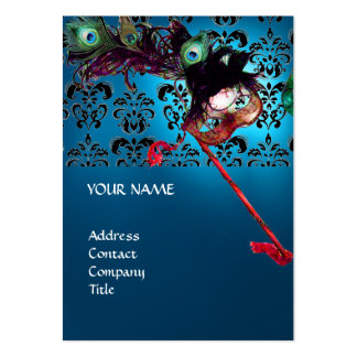 MASQUERADE PARTY black and white damask Business Card