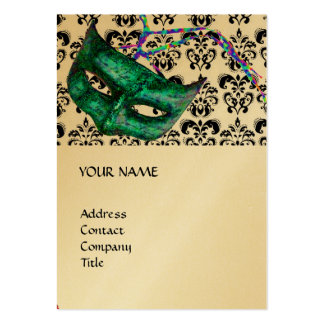 MASQUERADE PARTY black and white damask gold Pack Of Chubby Business Cards