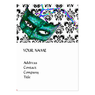 MASQUERADE PARTY black and white damask Pack Of Chubby Business Cards