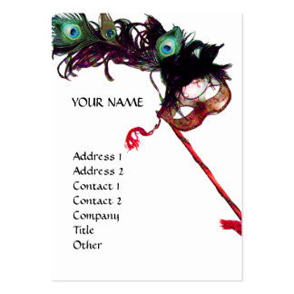MASQUERADE PARTY BUSINESS CARD TEMPLATE