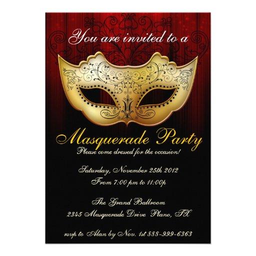 Masquerade Party Celebration Fancy Invitation