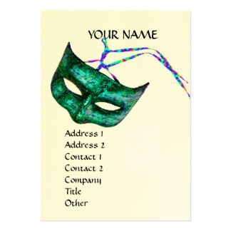 MASQUERADE PARTY eggshell Business Cards