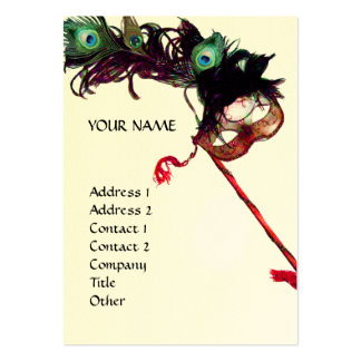 MASQUERADE PARTY eggshell Business Card