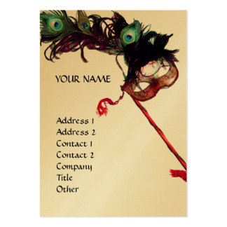 MASQUERADE PARTY gold Business Card