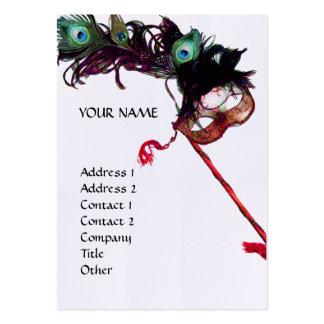 MASQUERADE PARTY linen Business Card Template