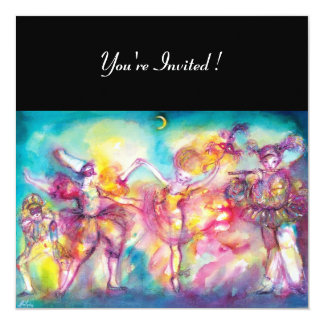MASQUERADE PARTY,Mardi Gras Masks,Dance,Music Card