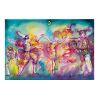 MASQUERADE PARTY,Mardi Gras Masks,Dance,Music Poster