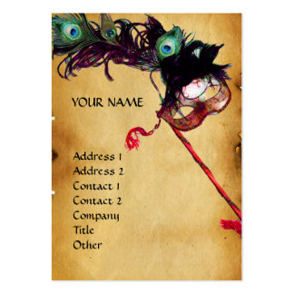 MASQUERADE PARTY parchment Business Card Templates