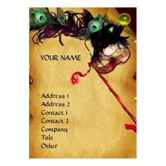 MASQUERADE PARTY parchment damask gem eggshell Pack Of Chubby Business Cards