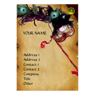 MASQUERADE PARTY parchment damask gem linen Business Card Templates