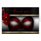 Masquerade Party Thank You Note Card