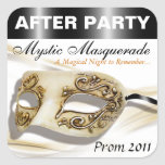 Masquerade Prom After Party Sticker