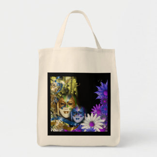 Masquerade quinceanera Venetian masks girls Grocery Tote Bag