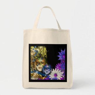Masquerade quinceanera Venetian masks girls Grocery Tote Bag