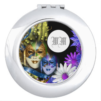 Masquerade quinceanera Venetian masks PERSONALIZE Compact Mirrors