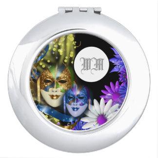 Masquerade quinceanera Venetian masks PERSONALIZE Compact Mirrors