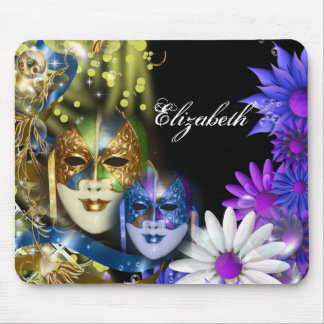 Masquerade quinceanera Venetian masks PERSONALIZE Mouse Pad