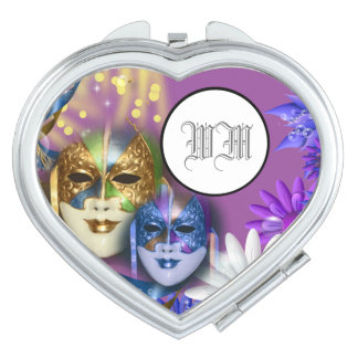 Masquerade quinceanera Venetian masks PERSONALIZE Makeup Mirror