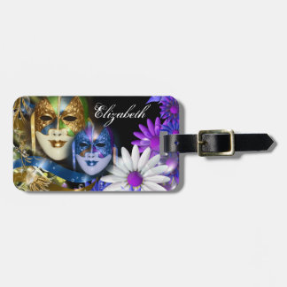 Masquerade quinceanera Venetian masks PERSONALIZE Tags For Luggage