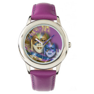 Masquerade quinceanera Venetian masks PERSONALIZE Wrist Watches