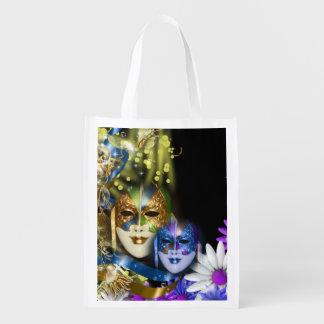 Masquerade quinceanera Venetian masks Market Tote