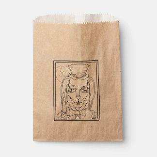 Masquerade Rabbit Carrot Lollipop Line Art Design Favour Bags