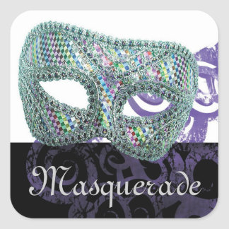 Masquerade Square Sticker