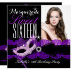 Masquerade Sweet Sixteen Sweet 16 Purple Black Card