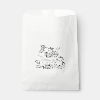 Masquerade Trick Or Treat Bowl Line Art Design Favour Bags