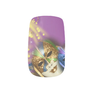 Masquerade Venetian masks girls Nails Sticker