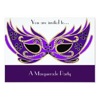 Masquerade Venician mask party 13 Cm X 18 Cm Invitation Card