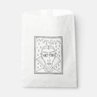 Masquerade Vlad Dracula Line Art Design Favour Bags