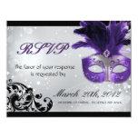 Masquerade Wedding RSVP Cards