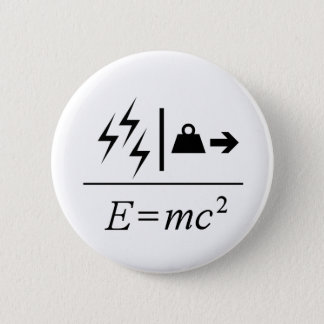 Mass–Energy Equivalence 6 Cm Round Badge