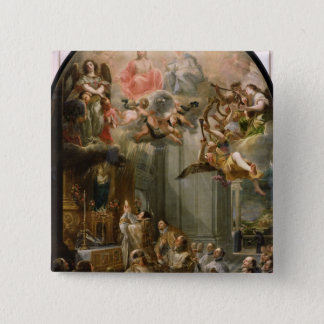 Mass for the Order of Trinitarians, 1666 15 Cm Square Badge