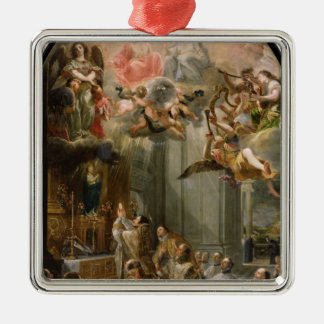 Mass for the Order of Trinitarians, 1666 Silver-Colored Square Decoration