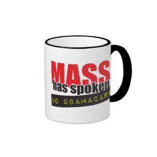 Mass Has Spoken - No ObamaCare Coffee Mugs